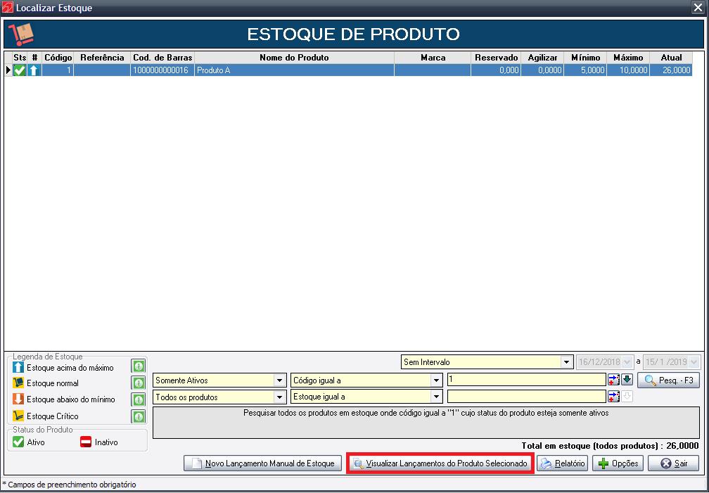 Após clicar no botão você terá acesso a tela de todos os lançamentos deste  produto 105fbb5a780